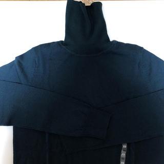 ムジルシリョウヒン(MUJI (無印良品))の新品 洗えるタートルネック 無印良品 スモーキーブルー(ニット/セーター)