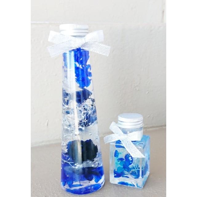 ハーバリウム ブルーな2本セット ハンドメイドのフラワー/ガーデン(その他)の商品写真