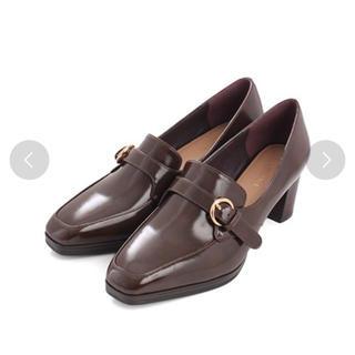 ランダ(RANDA)のRANDA ベルデットシューズ  ダークブラウン(ローファー/革靴)