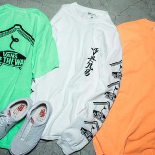サスクワッチファブリックス(SASQUATCHfabrix.)のSasquatchfabrix. VANS Long Sleeve Tee 白(Tシャツ/カットソー(七分/長袖))