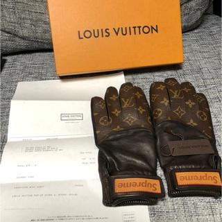 ルイヴィトン(LOUIS VUITTON)のLouis Vuitton✖︎supreme グローブ 手袋(手袋)