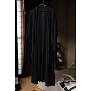 ヌードマサヒコマルヤマ(nude:masahiko maruyama)のNude:mm 2018SS ブラック シアサッカー ジャージ カーディガン(カーディガン)