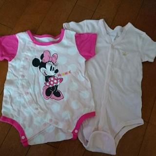 ディズニー(Disney)の早い者勝ち 新生児 肌着 ロンパース ミニーマウス肌着 2枚セット70サイズ(肌着/下着)