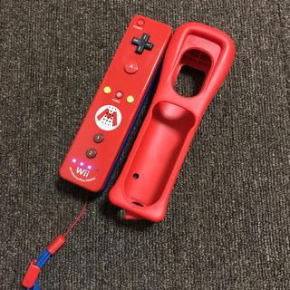 Wii - wiiマリオリモコン、カバー付き。