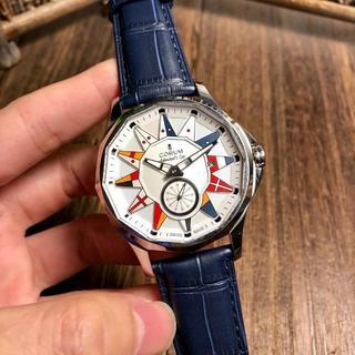 コルム(CORUM)のレザーベルト CORUM コルム 腕時計 ほぼ新品 腕時計 専用箱付き(レザーベルト)