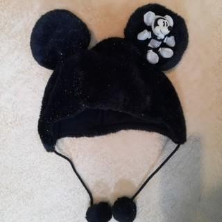 ディズニー(Disney)のミッキー黒ボア帽子 ディズニーリゾート(その他)