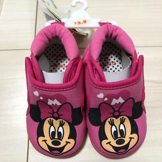 ディズニー(Disney)の★新品★ ミニー 靴 タグ付き 笛 音 13cm ベビーシューズ 出産準備(スニーカー)