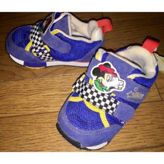 ディズニー(Disney)の新品 ミッキーマウス♪左右分かる ベビースニーカー シューズ 靴 14cm(スニーカー)
