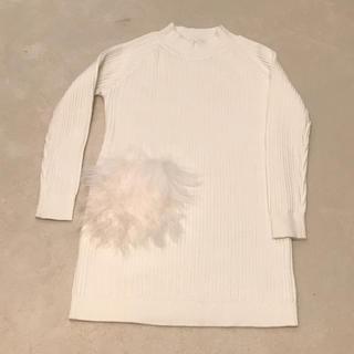 グラマラスガーデン(GLAMOROUS GARDEN)の白ニットワンピース(ひざ丈ワンピース)