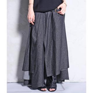 アンティカ(antiqua)のアンティカ デニム変形スカート(ロングスカート)