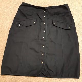 マーブルインク(marble ink)のブラック スカート(ひざ丈スカート)