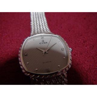 シーマ(CYMA)のCYMAの時計クォーツでボーイズタイプ男女兼用 シルバー(腕時計(アナログ))