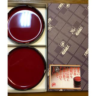 1月4日までの限定出品☆新品未使用 箱付き 桜皮細工 お皿2枚セット(漆芸)