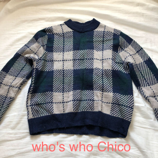 フーズフーチコ(who's who Chico)のwho's who chico ハイネックニット (ニット/セーター)