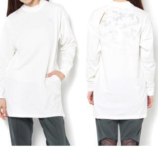 アディダス(adidas)のMOUSSY × adidas ロングTシャツ 新品未使用タグ付き(Tシャツ(長袖/七分))