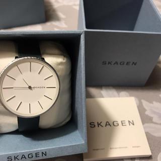 スカーゲン(SKAGEN)の値下げ可能!Karolina Green Leather Watch(腕時計)