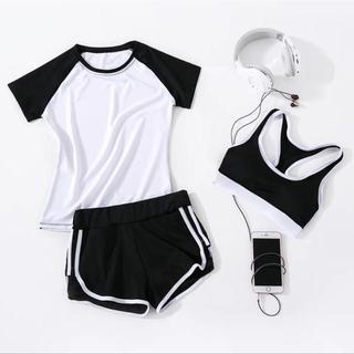 スポブラ&Tシャツ&ショーパン 3点セット(ランニング/ジョギング)