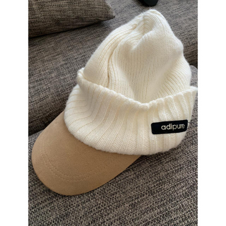 アディダス(adidas)のアディダスレディース帽子(ニット帽/ビーニー)