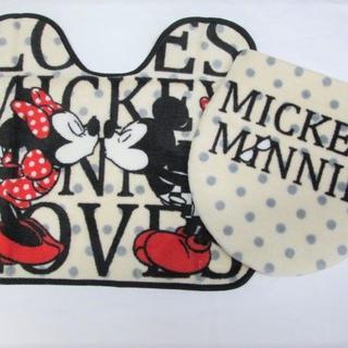 ディズニー(Disney)の新品 トイレ2点セット ディズニー ミッキー&ミニー(トイレマット)