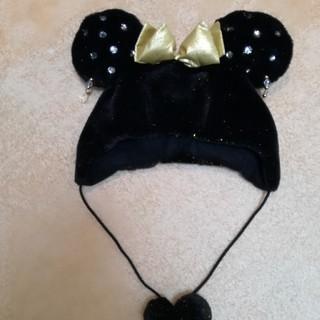 ディズニー(Disney)のミニー黒ボア帽子 ディズニーリゾート(その他)