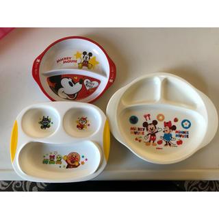 ディズニー(Disney)の子供 お皿 プレート ミッキー&ミニー アンパンマン(プレート/茶碗)