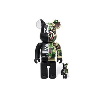 アベイシングエイプ(A BATHING APE)の400%100% BAPE x NEIGHBORHOOD BE@RBRICK(その他)