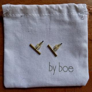 バイボー(by boe)のバーピアス 真鍮 シンプルピアス by boe(ピアス)