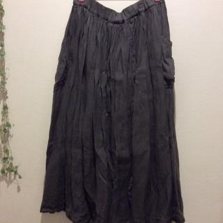 ツムグ(tumugu)のtumugu サイドポケット ロングスカート(ロングスカート)