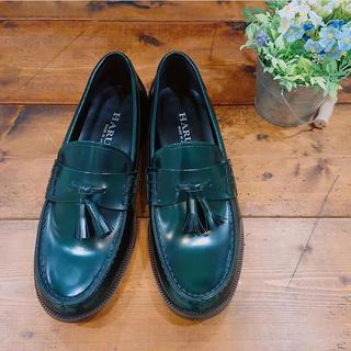 ハルタ(HARUTA)の2月まで!ハルタ HARUTA レザーカジュアルタッセルローファー(グリーン)(ローファー/革靴)