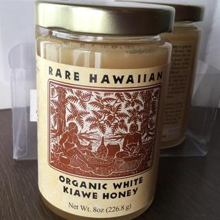 オーガニックエッセンス(ORGANIC ESSENCE)のORGANIC WHITE KIAWE HONEY 最高級のハチミツ 『一個』(缶詰/瓶詰)