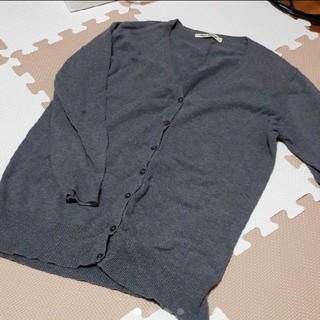 ネイビーナチュラル(navy natural)の薄手 七分袖 カーディガン(カーディガン)