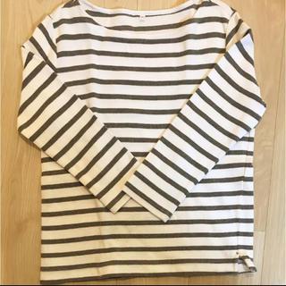 MUJI (無印良品) - ワッフル七分袖Tシャツ