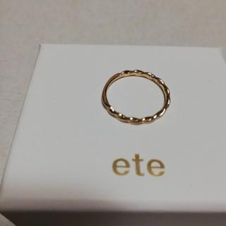 エテ(ete)のete  K10 イエローゴールドリング 7号(リング(指輪))