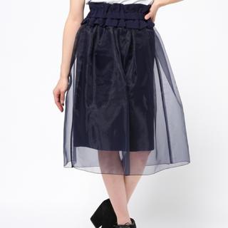 オキラク(OKIRAKU)の美品☆OKIRAKU☆オーガンジースカート(ひざ丈スカート)
