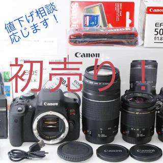 ★ボディ新品★Canon EOS Kiss X8i トリプルレンズセット 初売り(デジタル一眼)