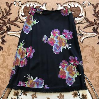 アンナモリナーリ(ANNA MOLINARI)のANNA MOLINARIのシルク入り花柄フレアスカート♡(ひざ丈スカート)
