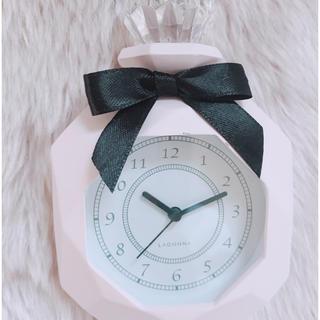 フランフラン(Francfranc)の♡˚ francfranc パフュームテーブルクロック ピンク♡˚(置時計)
