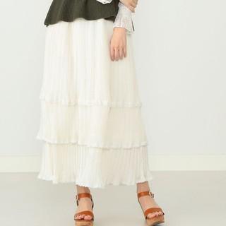 カロリナグレイサー(CAROLINA GLASER)の白ロングスカート(ロングスカート)