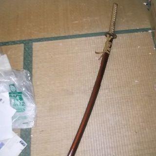 模造刀 日本刀 龍彫り物 大刀 美術品 置物 剣 合金 送料着払い(武具)