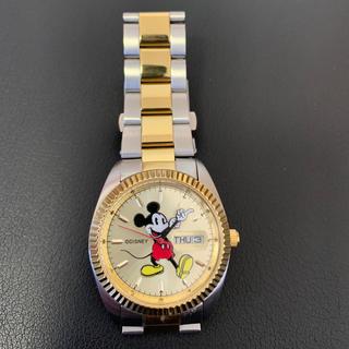 ディズニー(Disney)のディズニー ミッキー メンズ 腕時計 ゴールド シルバー(腕時計(アナログ))