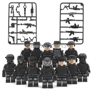 【送料無料】レゴ互換 特殊部隊 SWAT12体セット 武器多数  ③ 00073(ミリタリー)