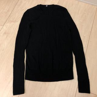 ムジルシリョウヒン(MUJI (無印良品))の無印 黒のウールシルクセーター(ニット/セーター)