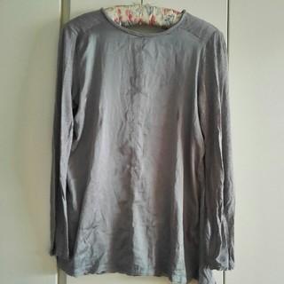 イブルース(IBLUES)のiBLUESグレーブラウスバックポイント長袖Tシャツ(Tシャツ(長袖/七分))