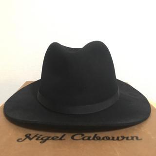 ニューヨークハット(NEW YORK HAT)の美品 ニューヨーク ハット ロングブリム フェドラ 黒 XL 帽子 XPV(ハット)