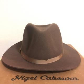 ニューヨークハット(NEW YORK HAT)の美品 ニューヨーク ハット ロングブリム フェドラ 茶 XL 帽子 XPV(ハット)