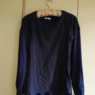 イブルース(IBLUES)のiBLUES ブルーブラウス長袖TシャツサイズL(シャツ/ブラウス(長袖/七分))