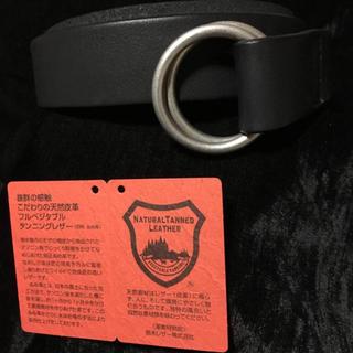 トチギレザー(栃木レザー)の新品 栃木 レザー Wリングベルト 日本製 高級 本革 黒 牛革 国産 40mm(ベルト)