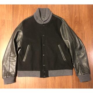 ナナミカ(nanamica)の【美品】ナナミカ スタジャンレザー切替Varsity Jacket 黒 M(ブルゾン)