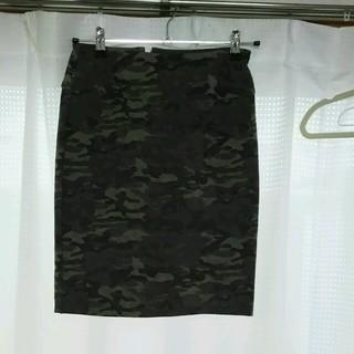 ティアンエクート(TIENS ecoute)の迷彩タイトスカート(ひざ丈スカート)
