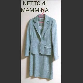 ネットディマミーナ(NETTO di MAMMINA)の【美品】冬 ツイードワンピーススーツ NETTO di MAMMINA(スーツ)